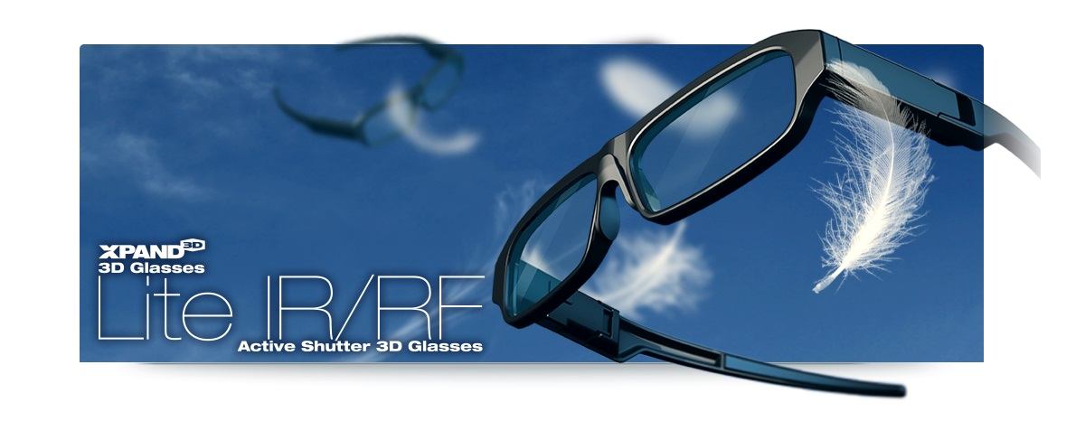 36bf19641784dd Xpand Lite X105 RF-IR 3D-glasses